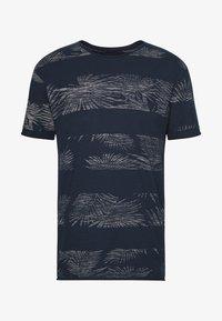 ALLEN - Print T-shirt - navy