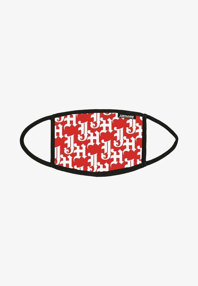 Masque en tissu - red/white