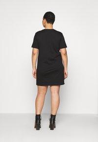 Calvin Klein Jeans Plus - INSTITUTIONAL DRESS - Jersey dress - black - 2