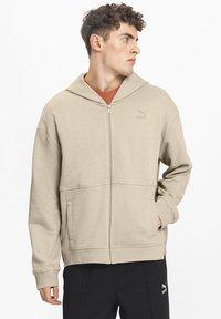 Puma - Zip-up hoodie - pale khaki - 0