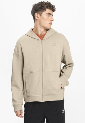 veste en sweat zippée - pale khaki
