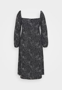 Missguided Plus - MILKMAID DRESS POLKA - Day dress - black - 1