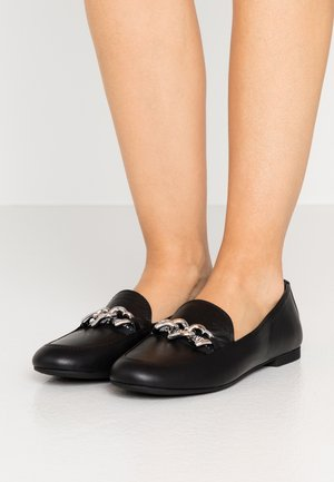 CHAIN HEART - Slippers - black