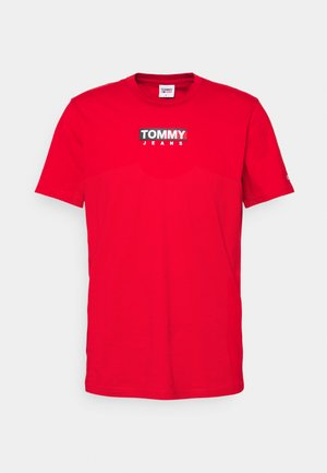 ENTRY TEE - T-shirt z nadrukiem - deep crimson