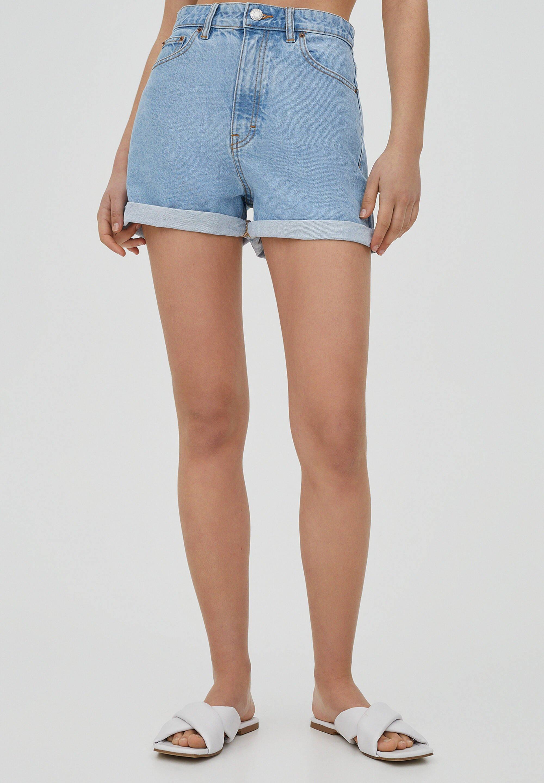 Femme MIT UMGESCHLAGENEM SAUM - Short en jean