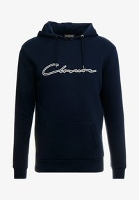 CLOSURE London - DOUBLE SCRIPT HOODY - Jersey con capucha - navy - 4