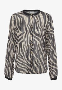 Kaffe - KAVENDA  - Button-down blouse - black zebra print - 4