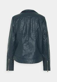 Dorothy Perkins Tall - BIKER JACKET - Faux leather jacket - petrol - 1