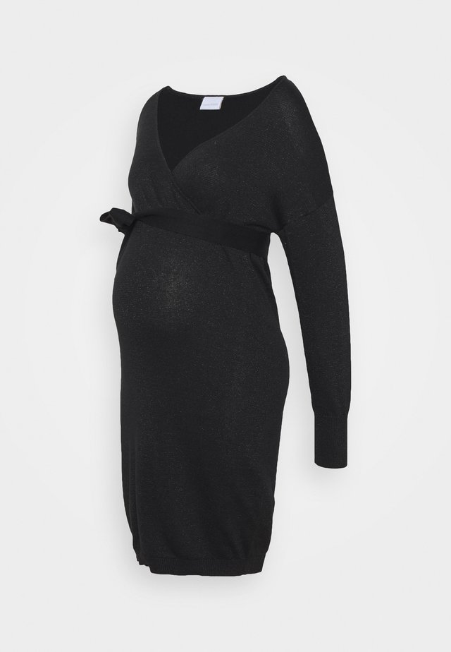 MLELVA TESS DRESS - Robe pull - black