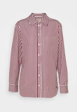 PANCA - Button-down blouse - bordeaux