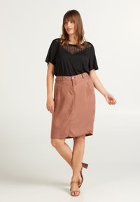 Zizzi - Pencil skirt - brown - 0