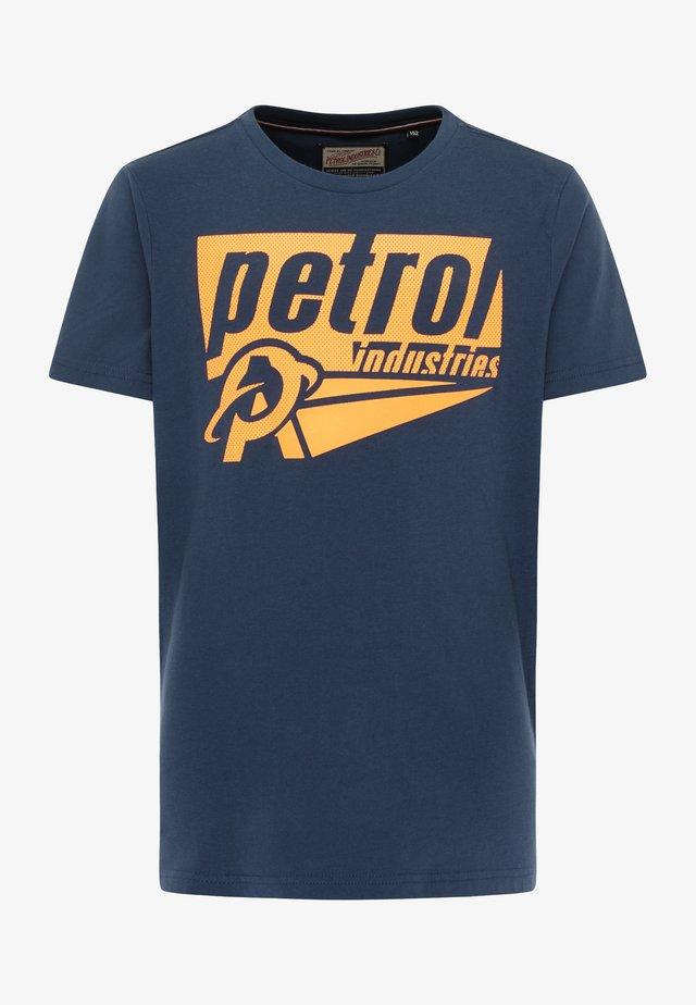 T-shirt print - petrol blue