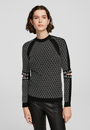 Sweter - black/white
