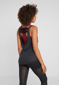 Nike Performance - DRY - T-shirt sportiva - black/white - 3