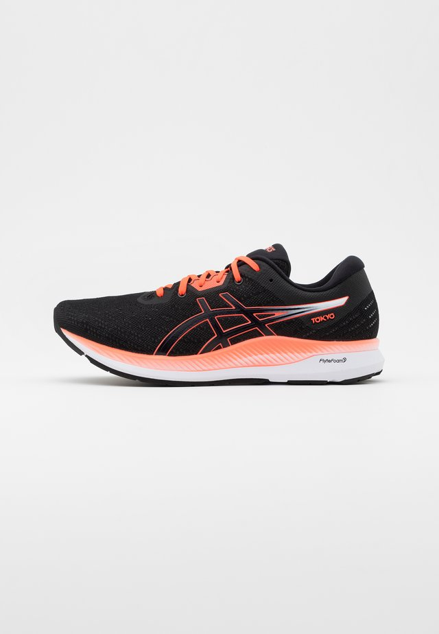 EVORIDE - Neutral running shoes - black/sunrise red