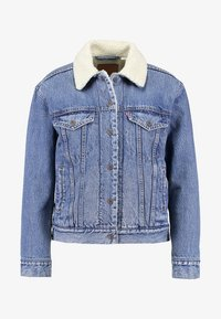 Levi's® - EX-BF SHERPA TRUCKER - Jeansjakke - addicted to love - 4