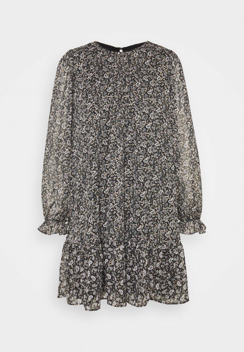 Wallis - MINI PAISLEY FRILL DRESS - Sukienka letnia - black