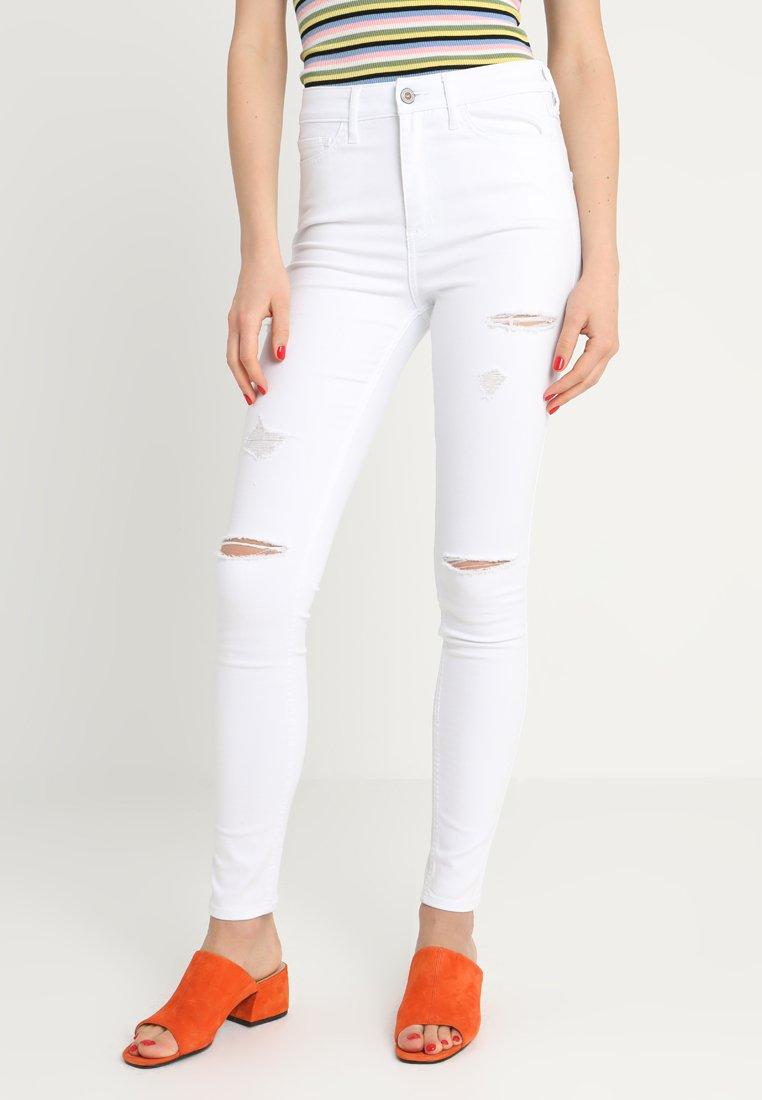Hollister Co. - HIGH RISE - Skinny džíny - white