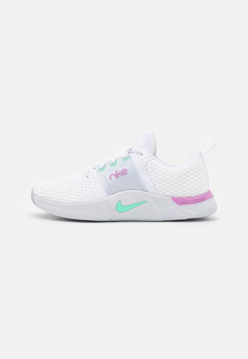 Nike Performance - RENEW IN-SEASON TR 10 - Zapatillas de entrenamiento - white/green glow/violet shock/football grey/infinite lilac