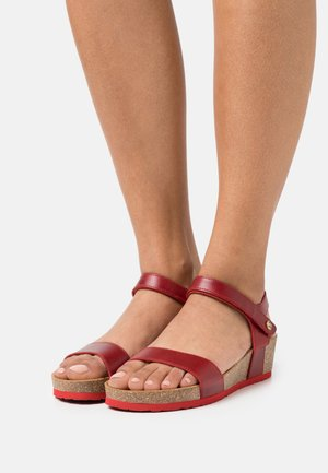 CAPRI PULL UP - Platform sandals - red