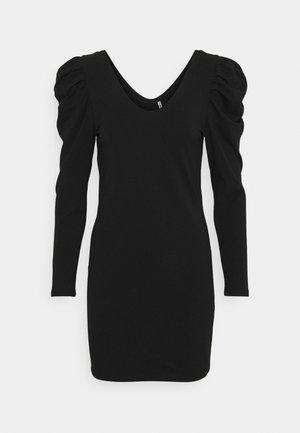 ONLLISA LIFE PUFF DRESS - Vestito di maglina - black