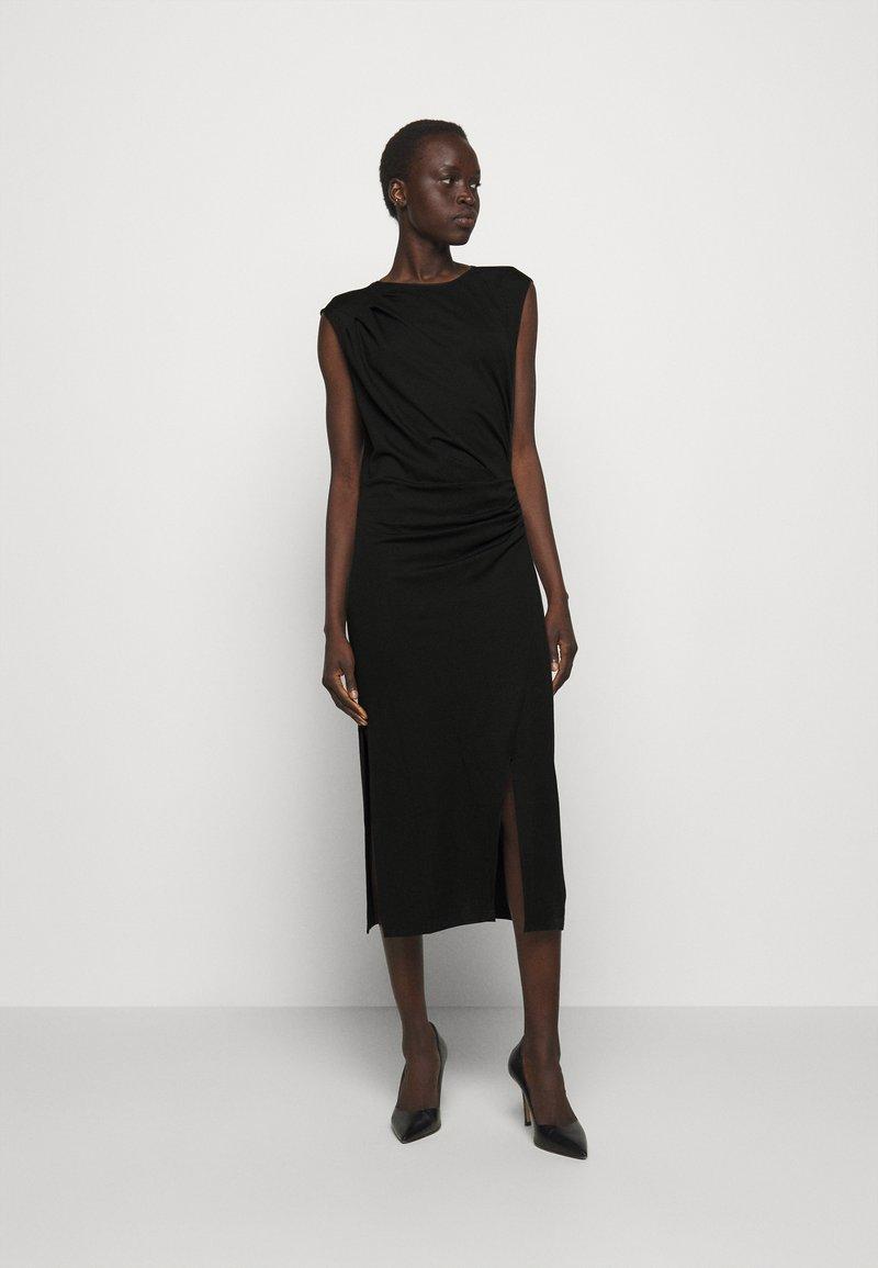 DESIGNERS REMIX - MODENA PLEAT DRESS - Shift dress - black