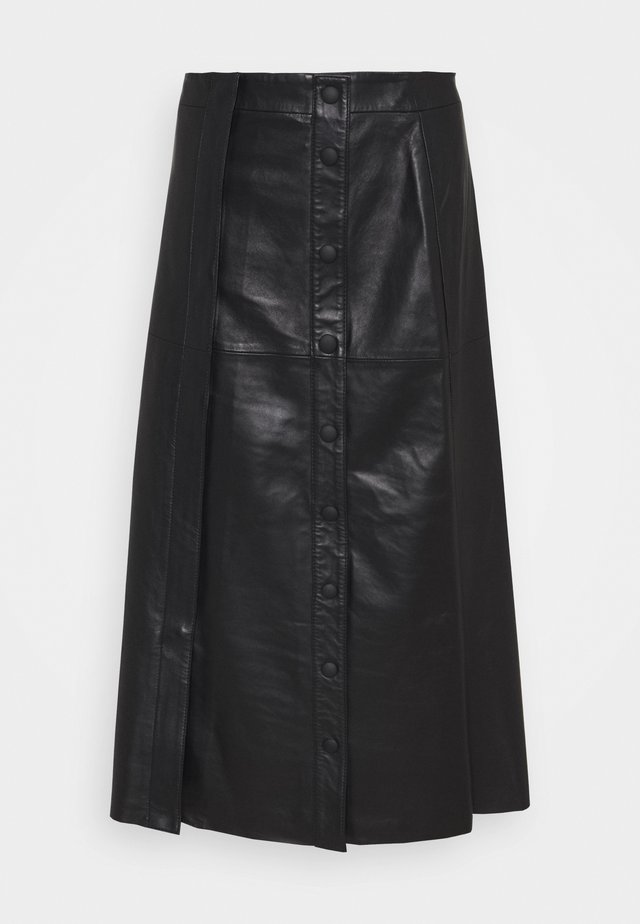 GERUSIA - Pencil skirt - schwarz