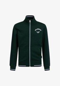 WE Fashion - MET OPSTAANDE KRAAG - Zip-up hoodie - dark green - 0