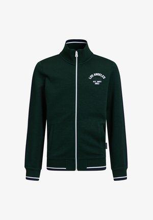 MET OPSTAANDE KRAAG - veste en sweat zippée - dark green