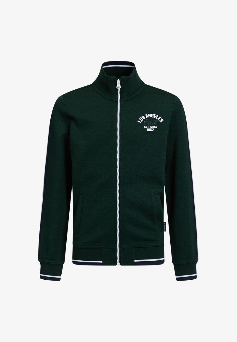 WE Fashion - MET OPSTAANDE KRAAG - Zip-up hoodie - dark green