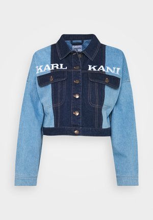 RETRO BLOCK JACKET - Denim jacket - blue