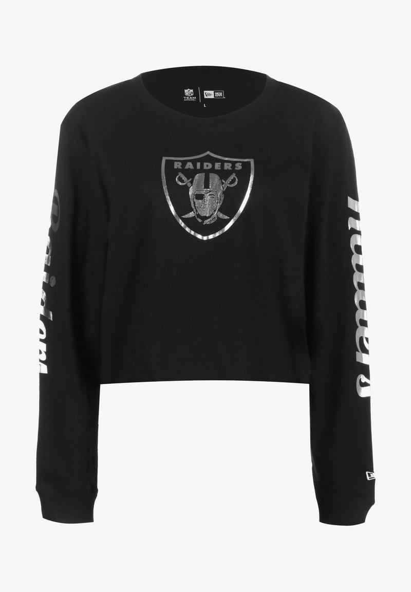 New Era - PROPERTIES OAKLAND RAIDERS  - Long sleeved top - black