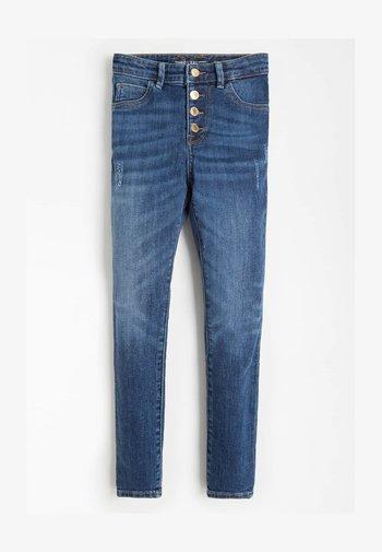 ABRIEBSTELLEN - Jeans Skinny Fit - dunkelblau