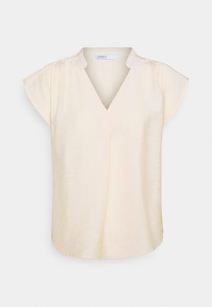 ONLJOSEY V-NECK TOP - Blus - ecru