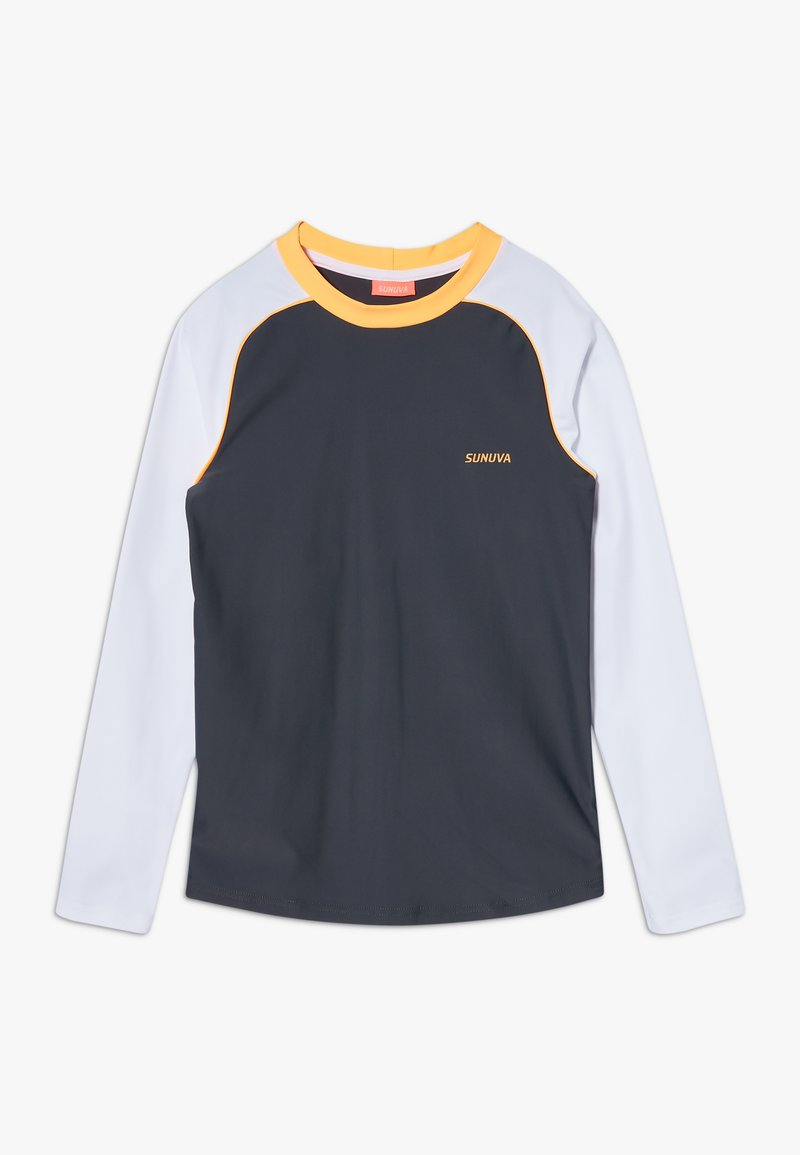 Sunuva - BOYS LONG SLEEVE RASH VEST - Koszulki do surfowania - charcoal grey