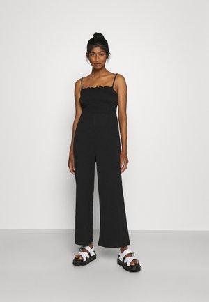 PCTILY WIDE CROPPED - Jumpsuit - black