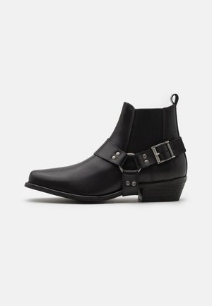 SLHHENRY BOOT - Cowboy/biker ankle boot - black