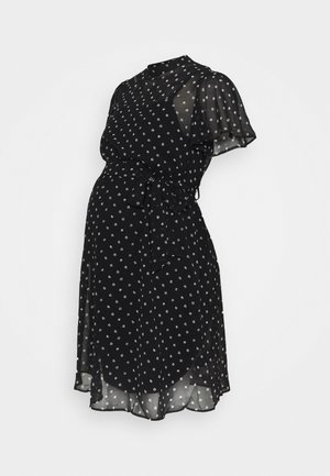 MONO FIT AND FLARE DRESS - Day dress - black/white