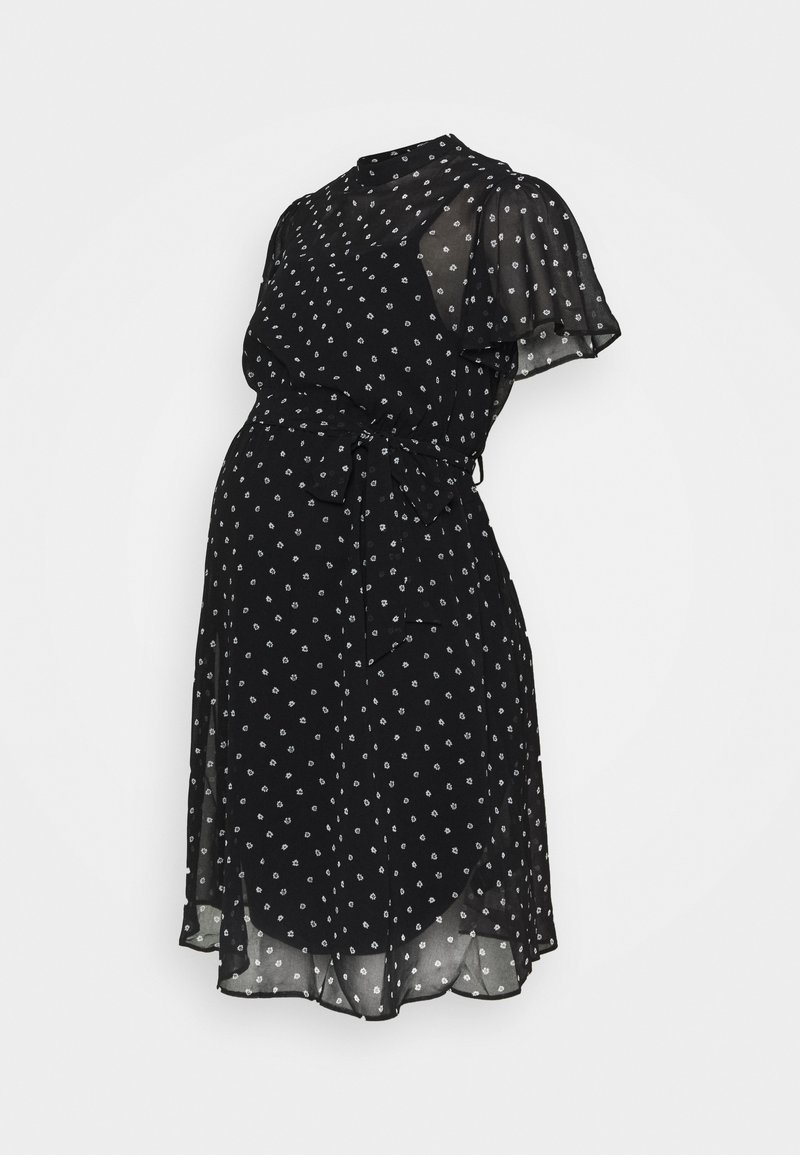 Dorothy Perkins Maternity - MONO FIT AND FLARE DRESS - Day dress - black/white