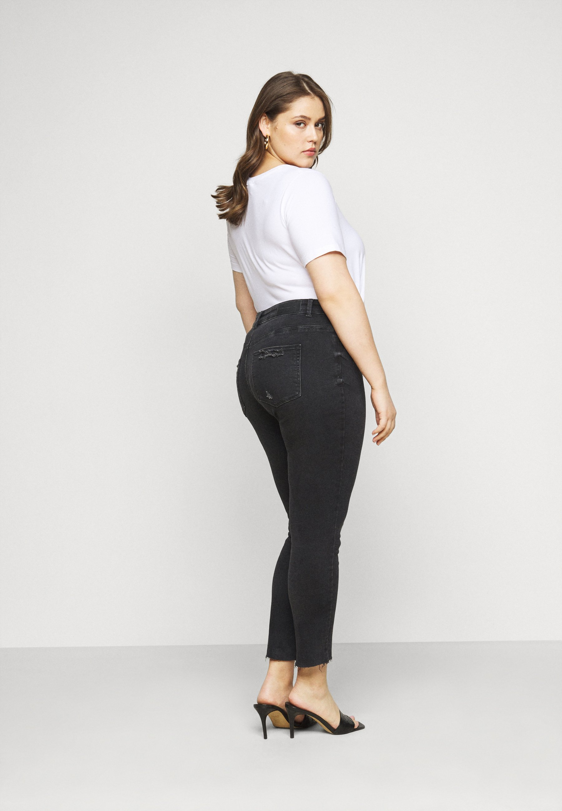 Donna CARRUSH LIFE REG SK ANK RAW - Jeans Skinny Fit