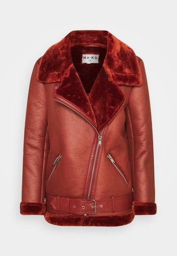 BONDED AVIATOR JACKET - Winter jacket - rust