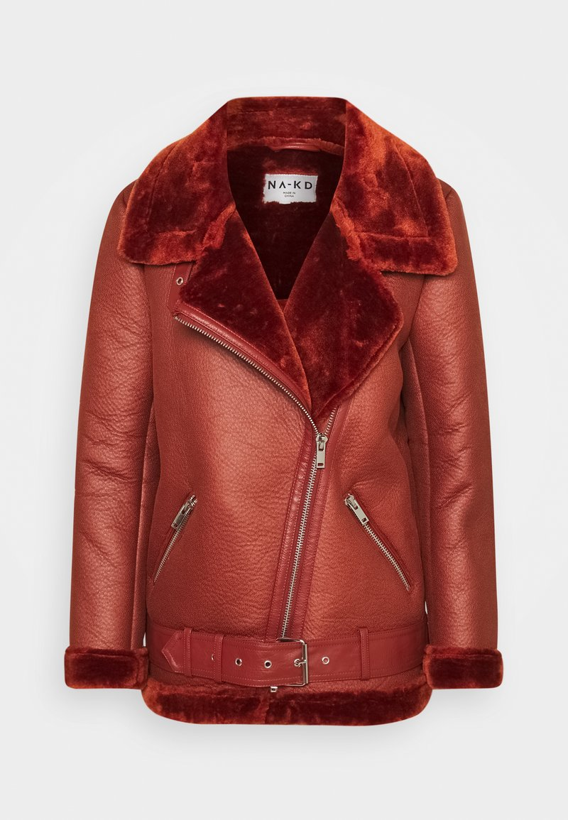NA-KD - BONDED AVIATOR JACKET - Winter jacket - rust