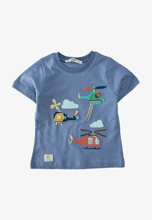 HELICOPTER EMBROIDERED  - Print T-shirt - blue