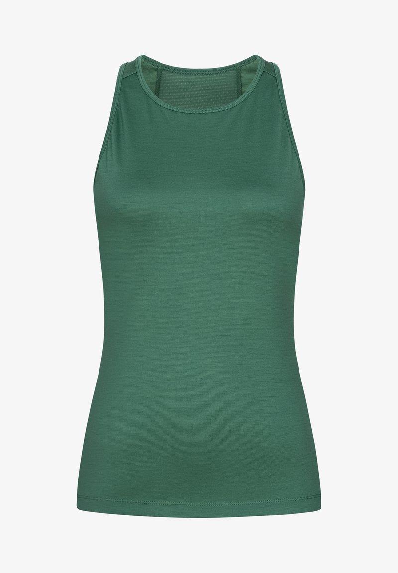 super.natural - MERINO TANKTOP W JONSER TANK - Sports shirt - blau - grün