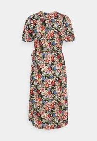 King Louie - WRAP DRESS DOLORES - Denní šaty - black - 1