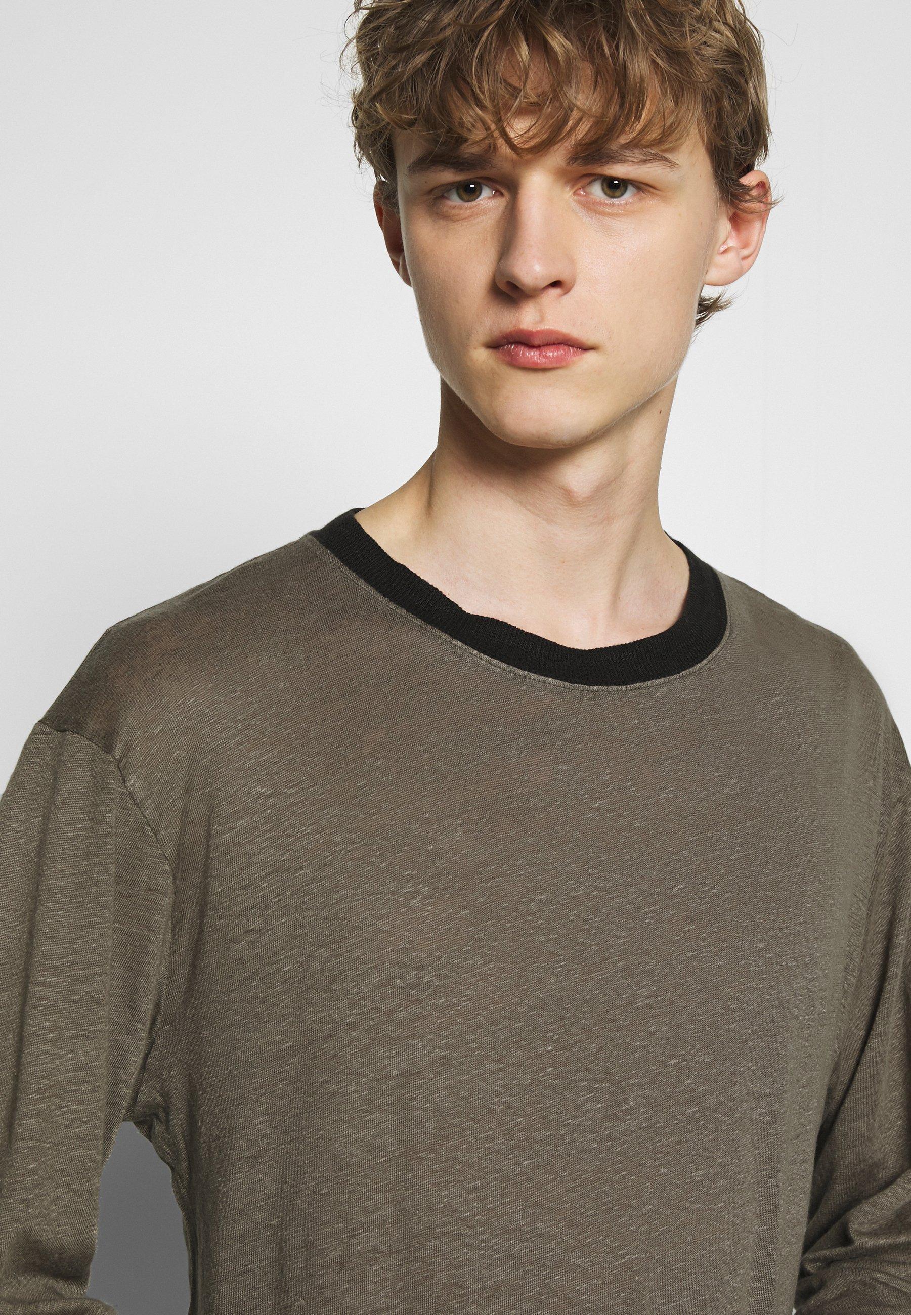 Iro DEERTON - T-shirt à manches longues - dark khaki/khaki