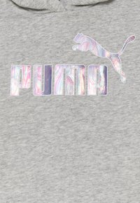 Puma - LOGO CROPPED HOODIE - Mikina - light gray heather - 2