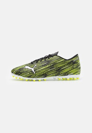ULTRA 4.2 MG - Astro turf trainers - black/white/yellow alert