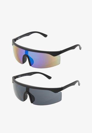 SUNGLASSES FRANCE 2 PACK - Sunglasses - black/blue/green
