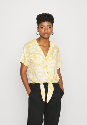 RESORT TEXTURE UPDATE - Button-down blouse - yellow